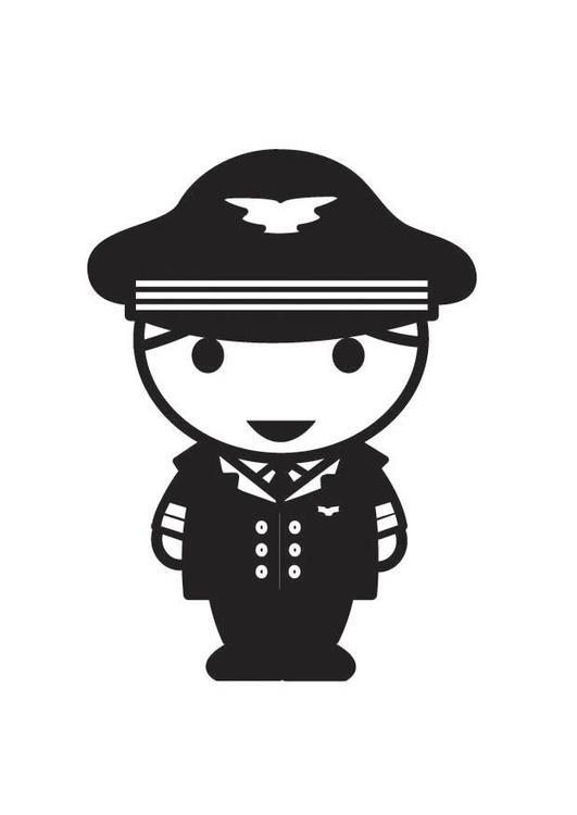 Coloriage et dessins gratuits Costume Pilote d'Avion à imprimer