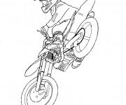 Coloriage Moto-cross et pilote