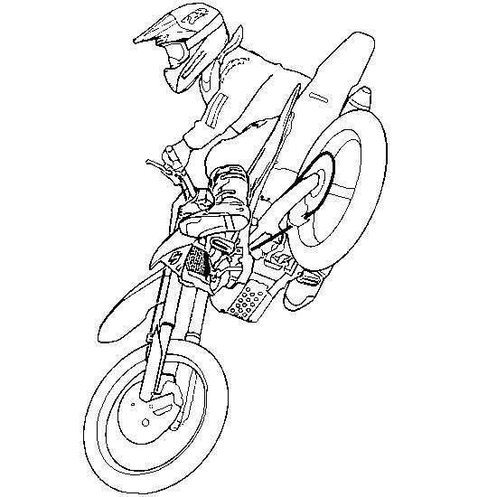 Coloriage moto cross et pilote dessin gratuit imprimer - Dessin de moto cross ...