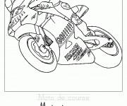 Coloriage et dessins gratuit Moto de course à imprimer