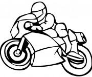 Coloriage Motocyclette de course