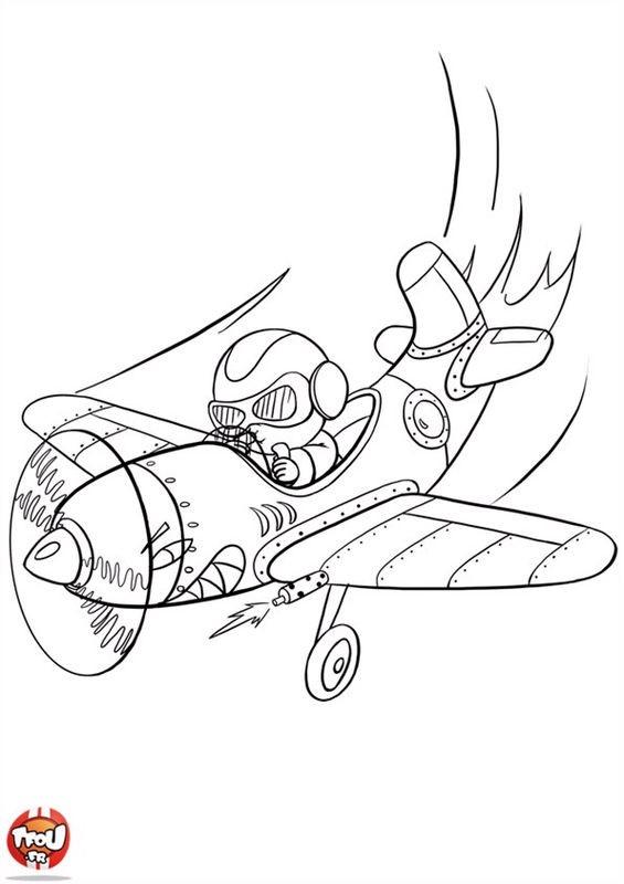 Coloriage et dessins gratuits Pilote 12 à imprimer