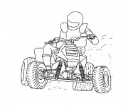 Coloriage Pilote de karting