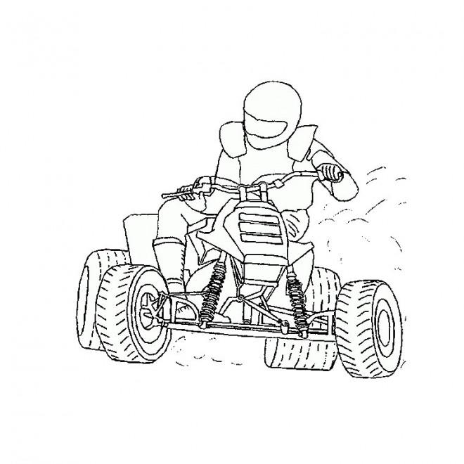 Coloriage Pilote De Karting Dessin Gratuit à Imprimer