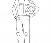Coloriage et dessins gratuit Pilote de voiture de sport à imprimer