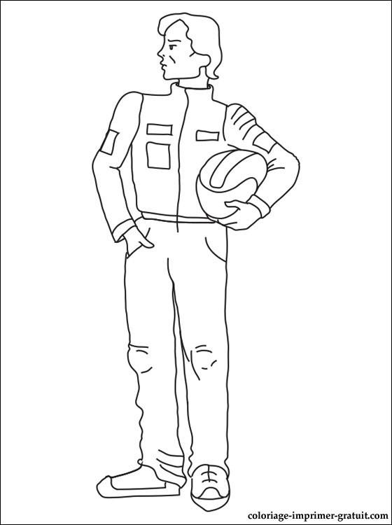 Coloriage et dessins gratuits Pilote de voiture de sport à imprimer