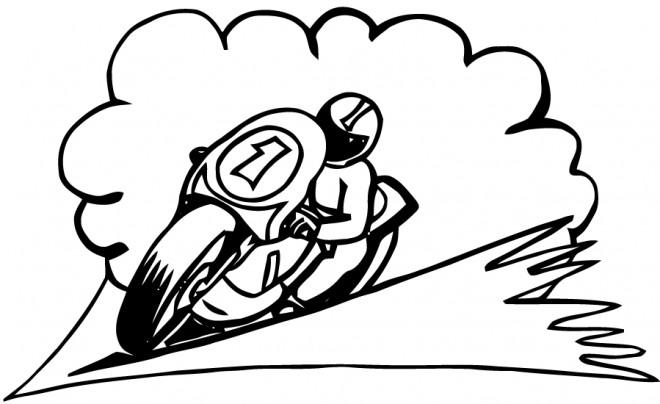 Coloriage pilote et moto sport dessin gratuit imprimer - Coloriage moto de course a imprimer ...