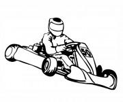 Coloriage Un Karting avec son pilote