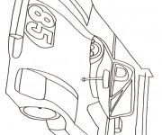 Coloriage et dessins gratuit Une voiture de course à imprimer