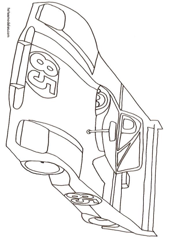 Coloriage une voiture de course dessin gratuit imprimer - Voiture de sport a colorier ...