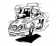 Coloriage et dessins gratuit Voiture de rallye drôle à imprimer