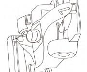 Coloriage et dessins gratuit Voiture Formule 1 à imprimer