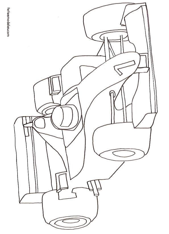 Coloriage voiture formule 1 dessin gratuit imprimer - Dessin 4x4 humoristique ...