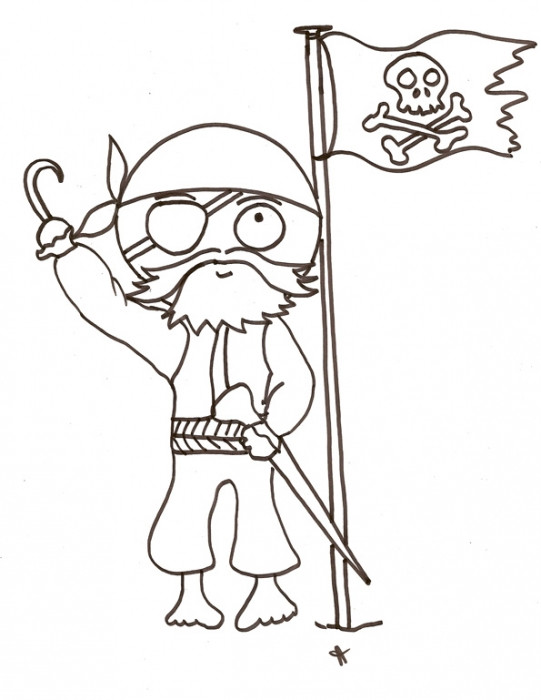 Coloriage et dessins gratuits Apparence d'un pirate à imprimer