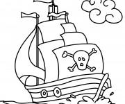 Coloriage et dessins gratuit Bateau pirate à imprimer