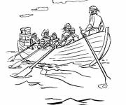 Coloriage et dessins gratuit Canot et Pirates maternelle à imprimer