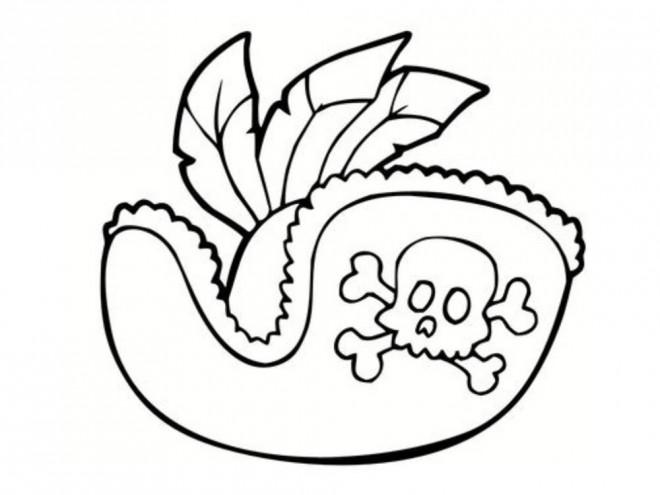 Coloriage et dessins gratuits Chapeau de pirate à imprimer