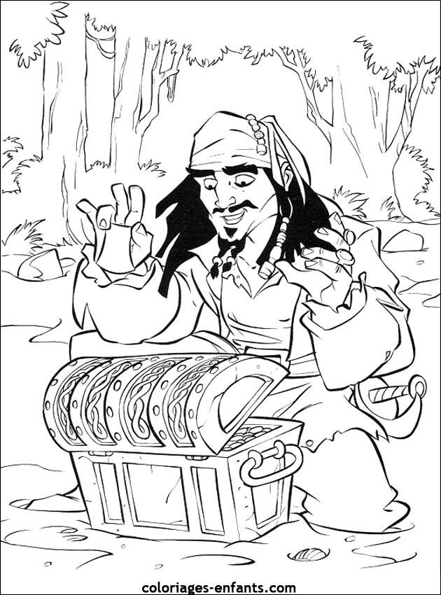 Coloriage et dessins gratuits Jack et les Pirates à imprimer
