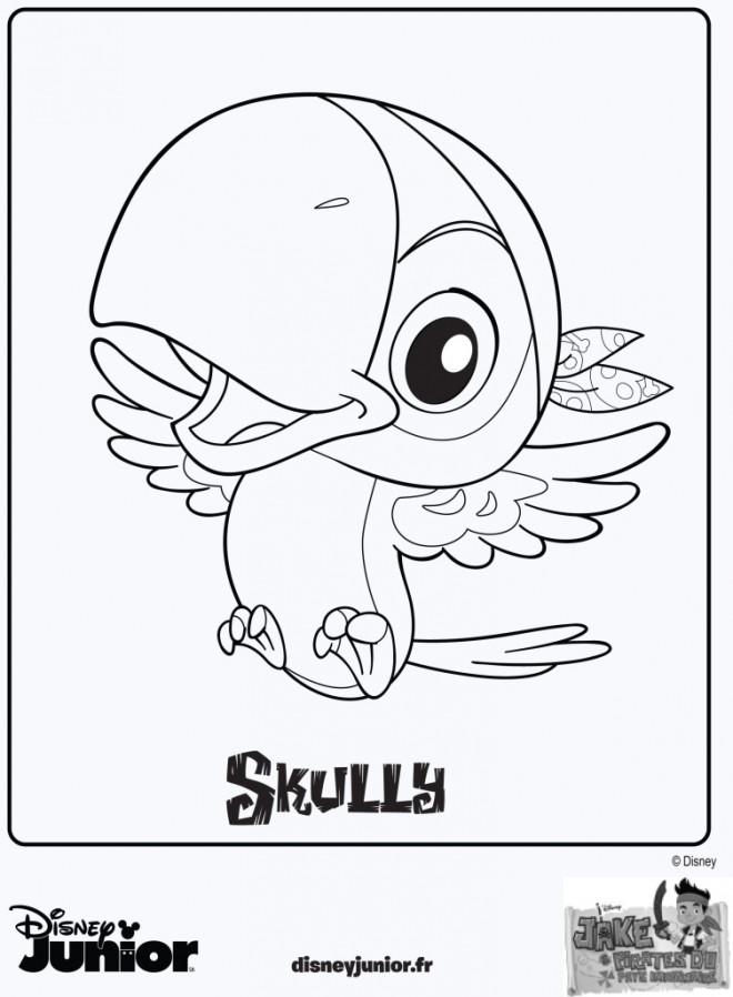 Coloriage et dessins gratuits Jack et les Pirates Skully à imprimer