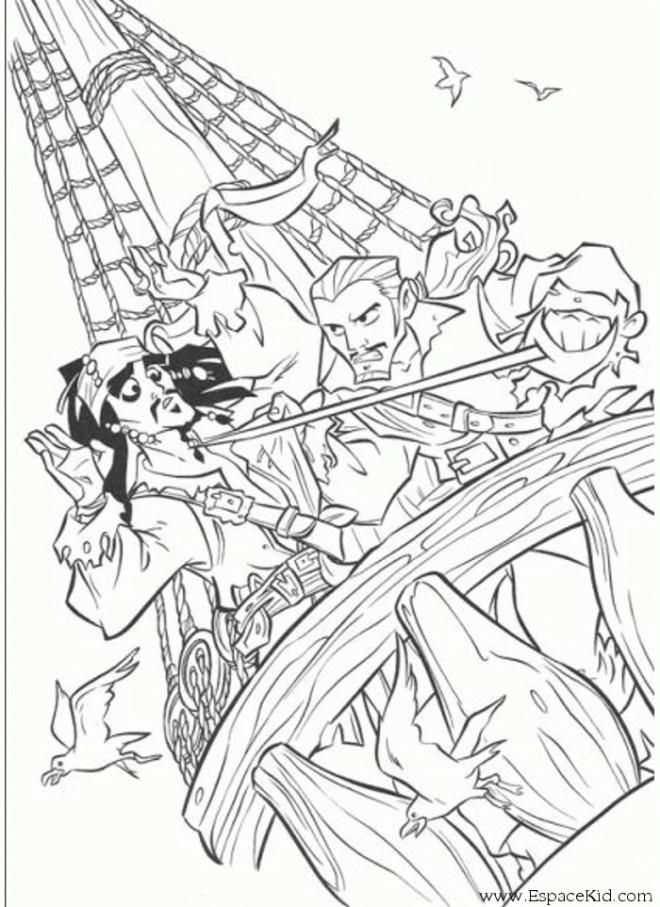 Coloriage et dessins gratuits Jack le pirate à imprimer