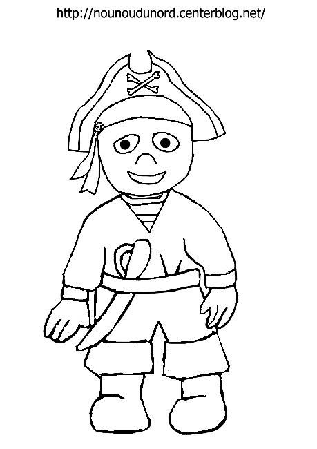 Coloriage et dessins gratuits Jeune Pirate à imprimer