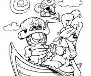 Coloriage et dessins gratuit Les animaux pirates à imprimer
