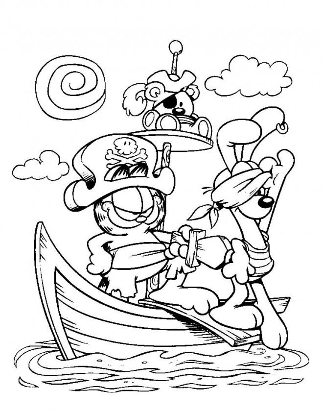 Coloriage et dessins gratuits Les animaux pirates à imprimer