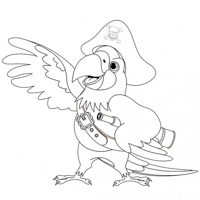 Coloriage et dessins gratuits Perroquet de Jaque à imprimer