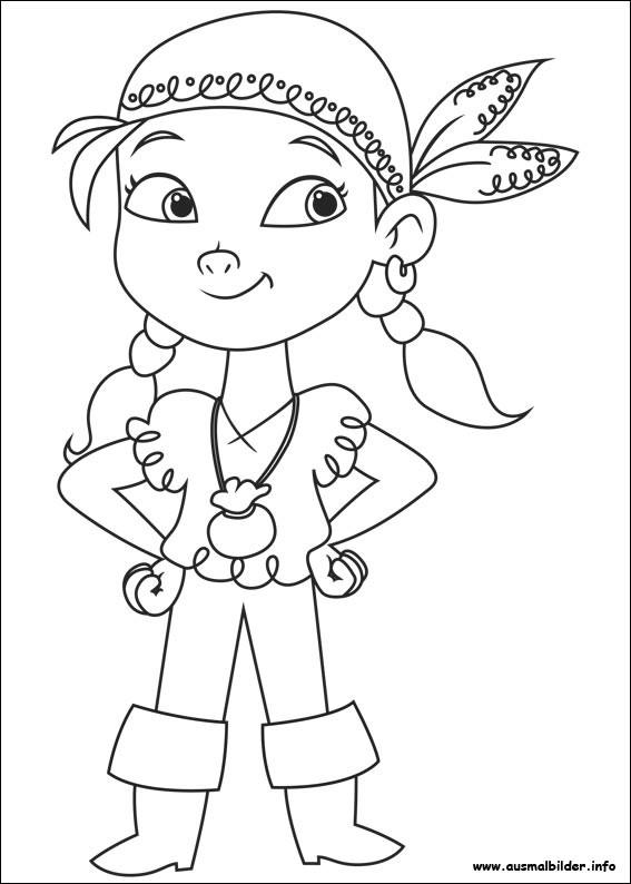Coloriage petite fille pirate dessin gratuit imprimer - Peter pan colorare pagina di colorazione ...