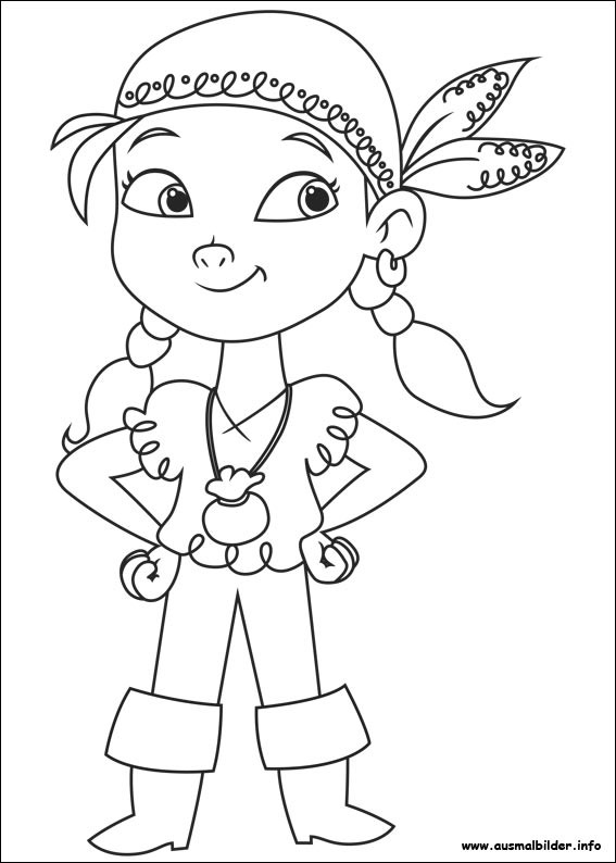 Coloriage petite fille pirate dessin gratuit imprimer - Dessin pirates ...