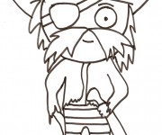 Coloriage dessin  Pirate 5