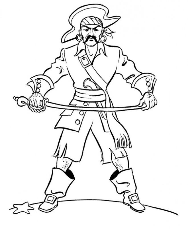 Coloriage et dessins gratuits Pirate adulte à imprimer
