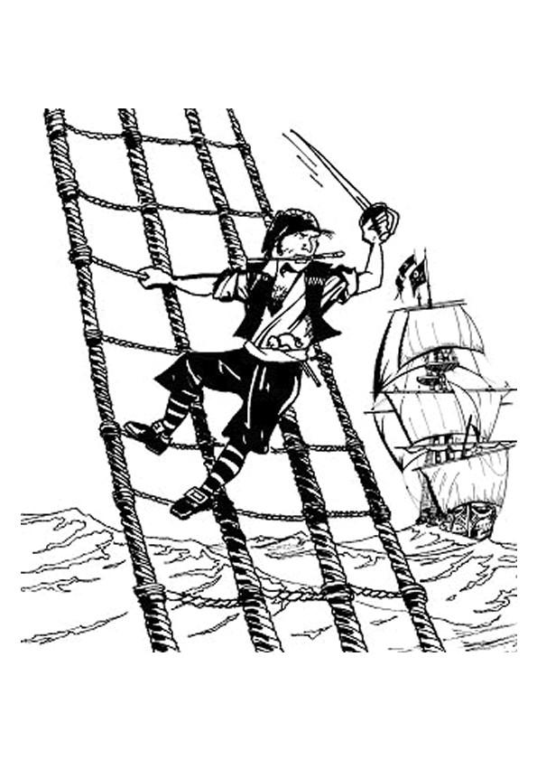 Coloriage et dessins gratuits Pirate avant l'attaque à imprimer