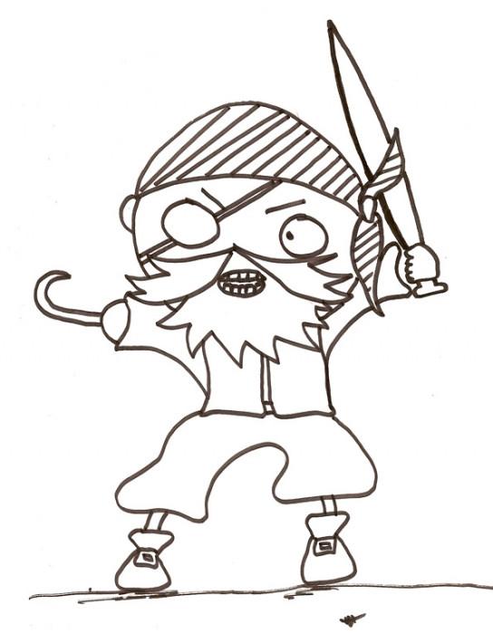 Coloriage et dessins gratuits Pirate dessin simple à imprimer