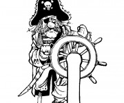 Coloriage Pirate en couleur