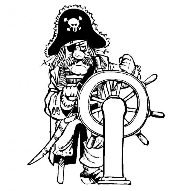 Coloriage et dessins gratuits Pirate en couleur à imprimer
