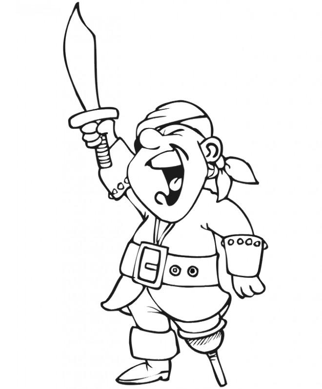 Coloriage et dessins gratuits Pirate en ligne dessin à imprimer