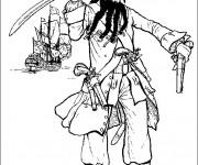 Coloriage et dessins gratuit Pirate et ses armes à imprimer