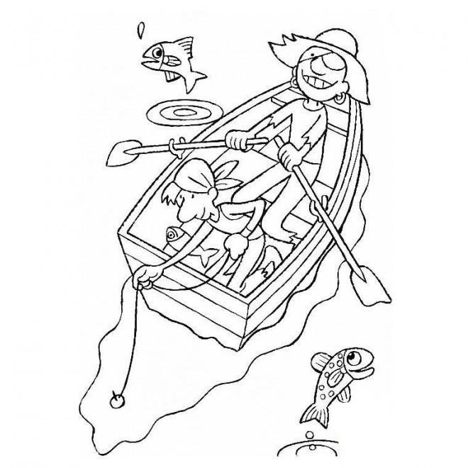 Coloriage et dessins gratuits Pirate pêcheur à imprimer