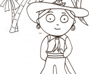 Coloriage et dessins gratuit Pirate simple à imprimer