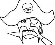 Coloriage et dessins gratuit Pirate tête à imprimer