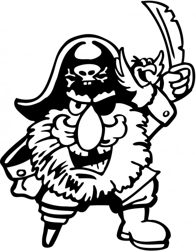 Coloriage et dessins gratuits Pirates avec le pied coupé à imprimer