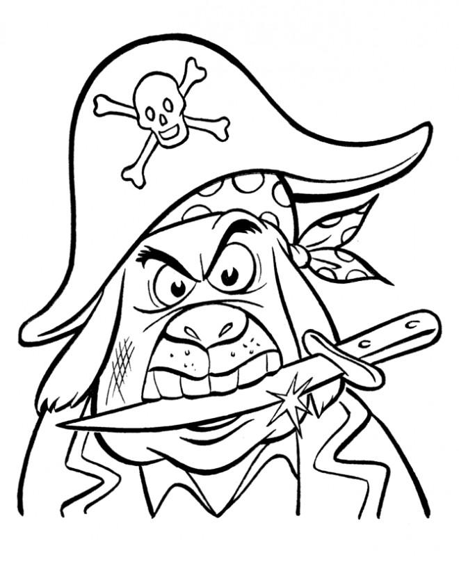 Coloriage et dessins gratuits Pirates et couteau à imprimer