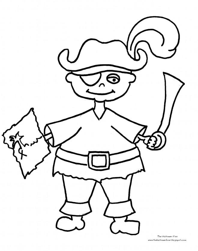 Coloriage Pirates Porte La Carte De Trésor