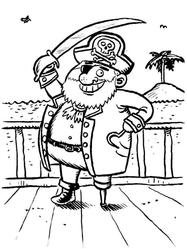 Coloriage et dessins gratuits Pirates trouve l'île de trésor à imprimer