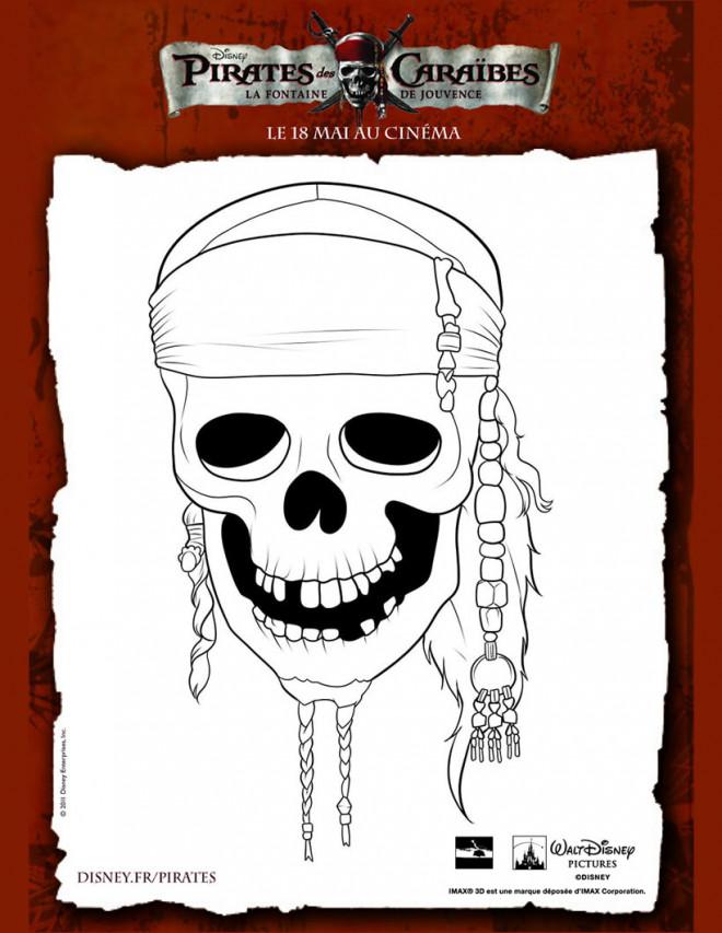 Coloriage et dessins gratuits Poster de Pirate de Caraibes à imprimer