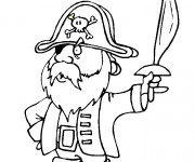 Coloriage Speedy Gonzales le pirate