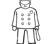 Coloriage Ancien uniforme de policier américain