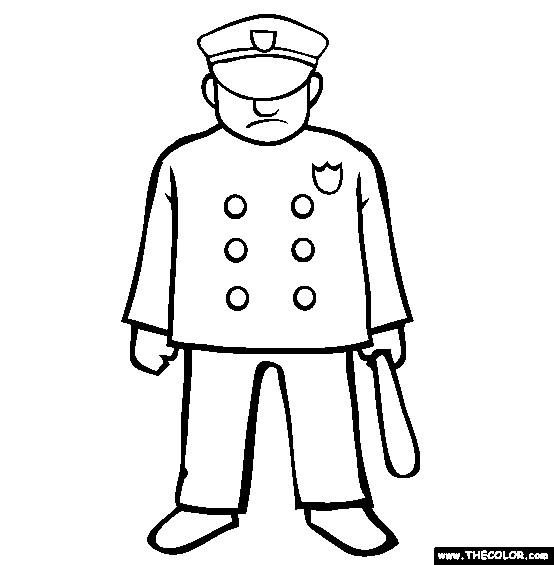 Coloriage Ancien Uniforme De Policier Am 233 Ricain