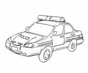 Coloriage et dessins gratuit Dessin voiture de police à imprimer